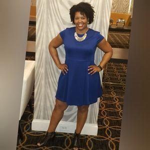 NY & Company | Eva Mendes Blue Fit & Flare Dress